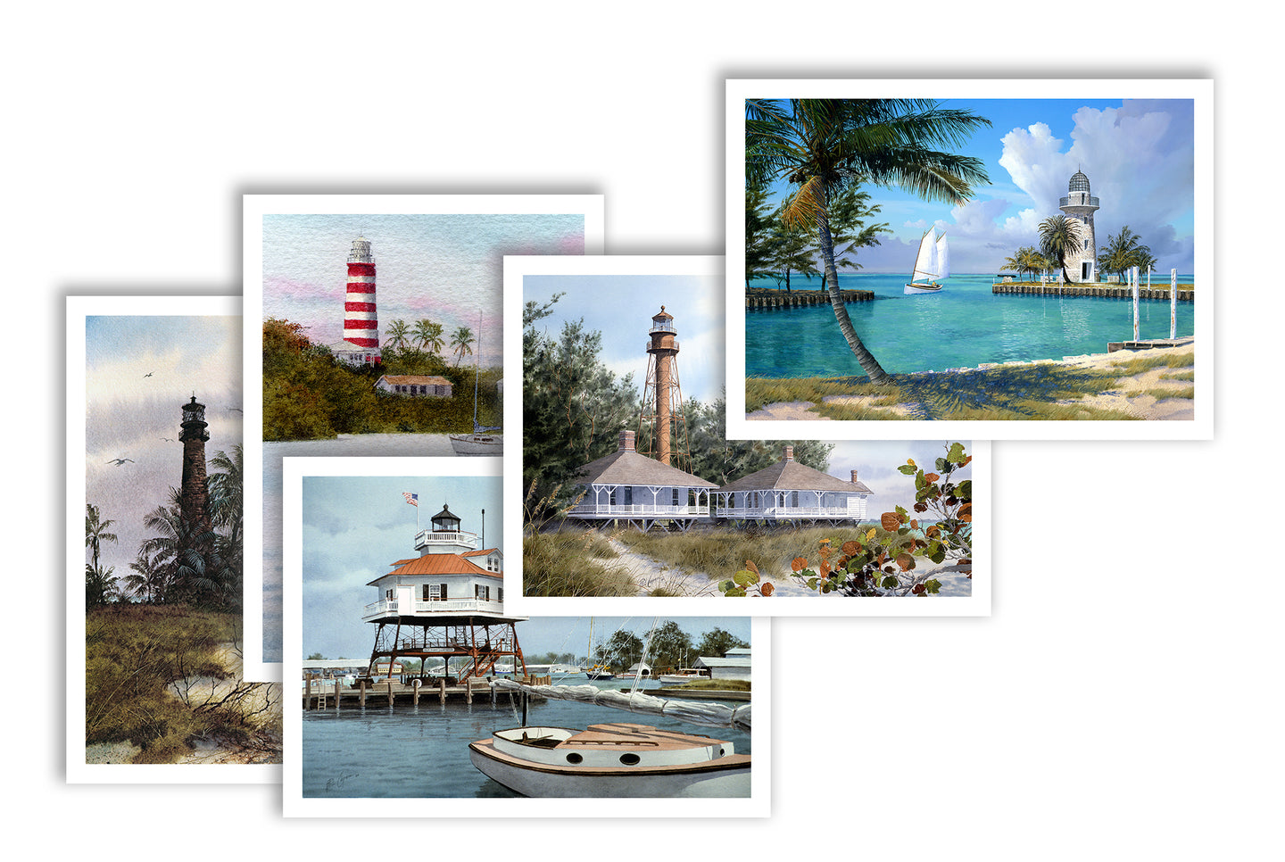 Note Cards:  Lighthouses - Shipping is FREE!