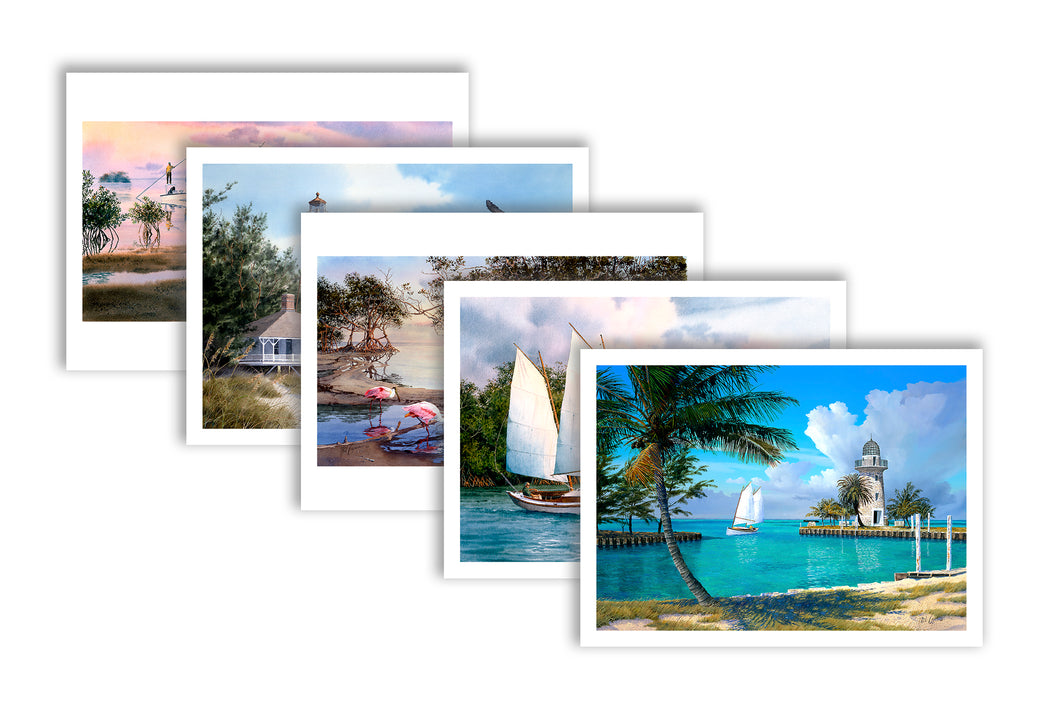 Note Cards:  Coastal Florida - Shipping is FREE!
