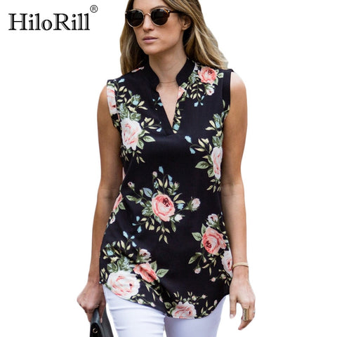 Fashion Vintage Floral Print Blouse 2019
