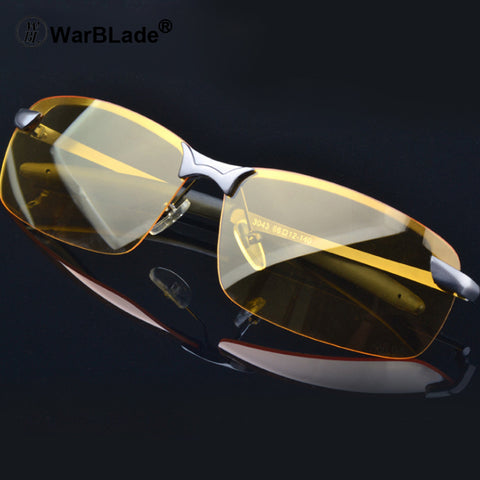 Yellow lens night vision driving glasses