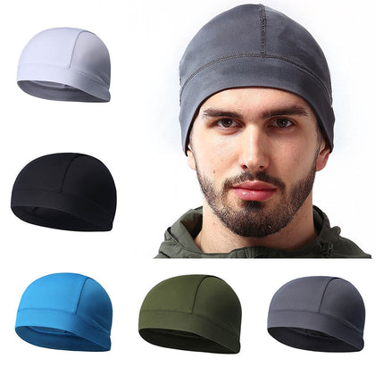 Summer Cap Hat Breathable Absorb Sweat Solid Bike Headband