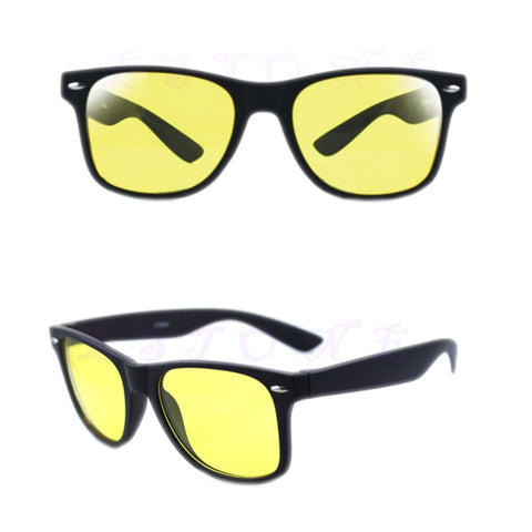 Unisex Yellow Lenses Night-Vision Glasses Driving Glasses