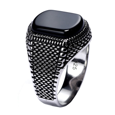 Turkey Jewelry Black Ring For Men