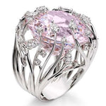 Pink Stone Anniversary Ring For Women