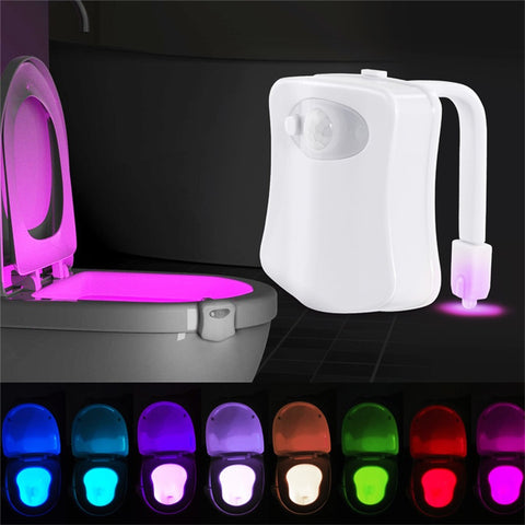 Smart Motion Sensor Toilet Seat Night Light - 8 Colors Waterproof Back light For Toilet Bowl