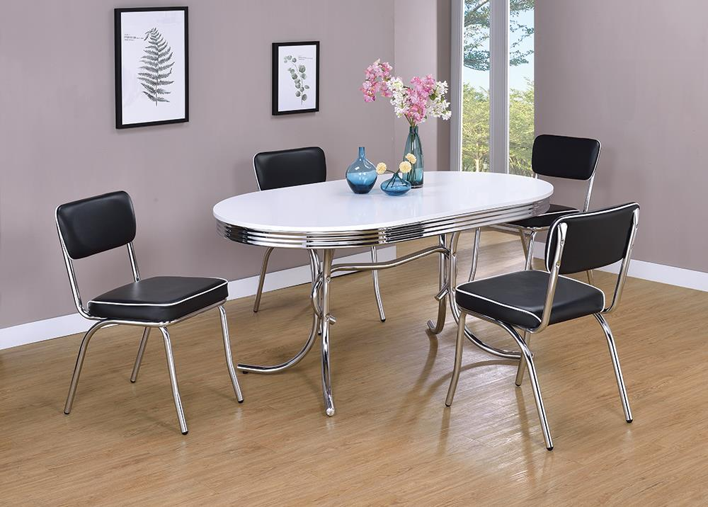 Retro Collection White Dining Table