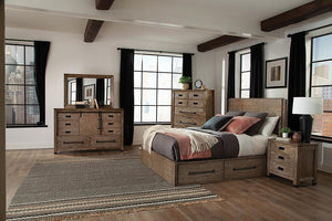 Meester Rustic Barn Door Queen Bed