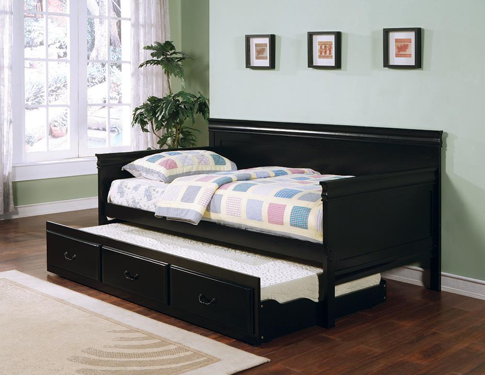 Louis Philippe Traditional Black Twin Daybed