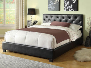 Regina Transitional Black Queen Bed