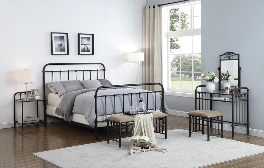 Livingston Transitional Dark Bronze California King Bed