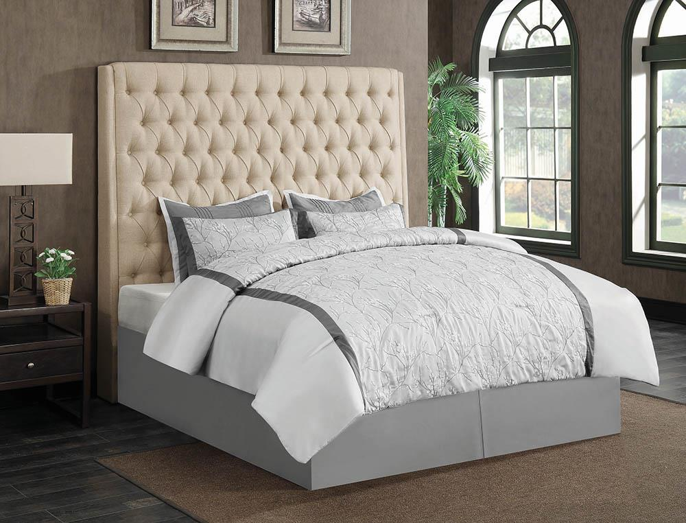 Camille Cream Upholstered King Bed