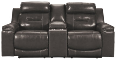 Pomellato Power Reclining Loveseat with Console