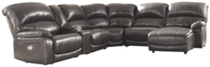 Hallstrung 6Piece Reclining Sectional with Chaise and Power