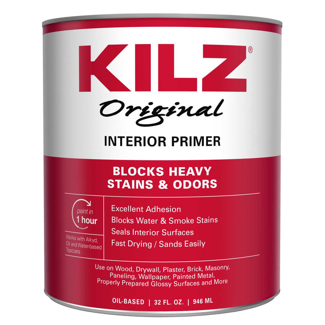 KILZ Original White Flat Oil-Based Primer 1 qt.