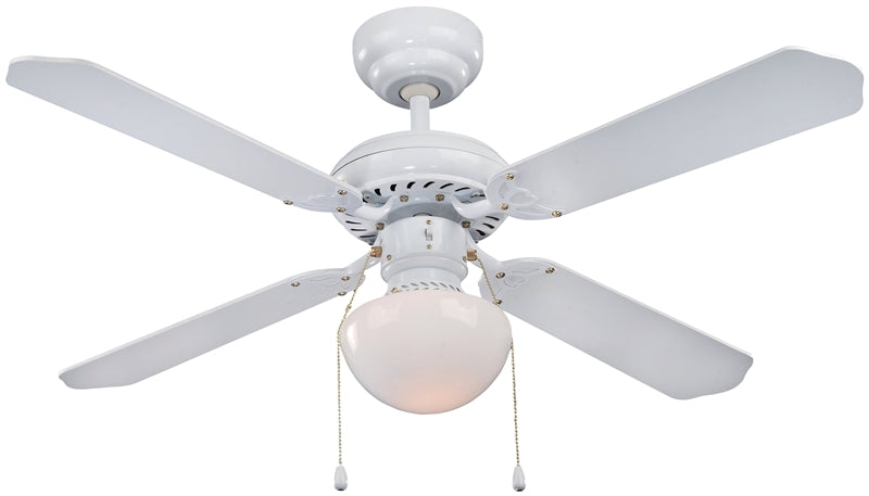 Boston Harbor CF-78133 Ceiling Fan, 4 Blade, White