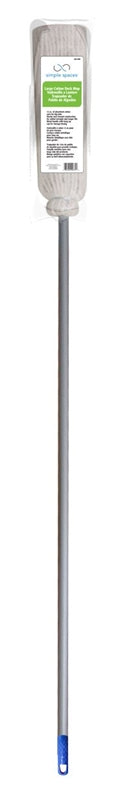 Simple Spaces Large Deck Mop, 12 Oz, No 16, 60 In Handle, Cotton