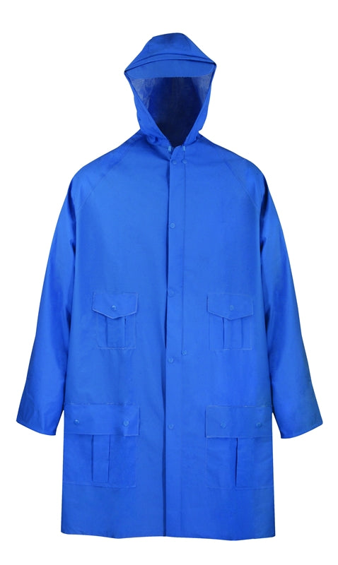Diamondback Heavy Duty Rain Parka, Medium, Pvc, Blue