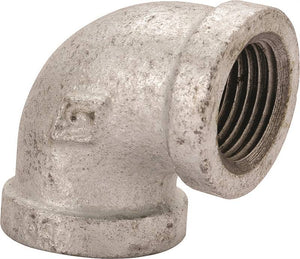 Worldwide Sourcing Pipe Elbow, 90 Deg, 1/2 X 3/8 In, Threaded, Malleable Iron
