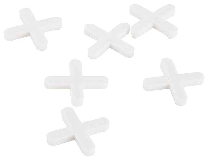 Vulcan Tile Spacers, Plastic, Cross Type, 3/16 Inch