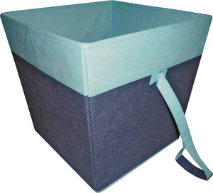 Simple Spaces Storage Bin, 15 X 15 X 15 In, Blue