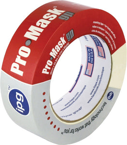 IPG 5102-1.5 General-Purpose Masking Tape, 60 yd L, 1-1/2 in W, 5 mil Thick, Resin/Synthetic Rubber Adhesive, Beige