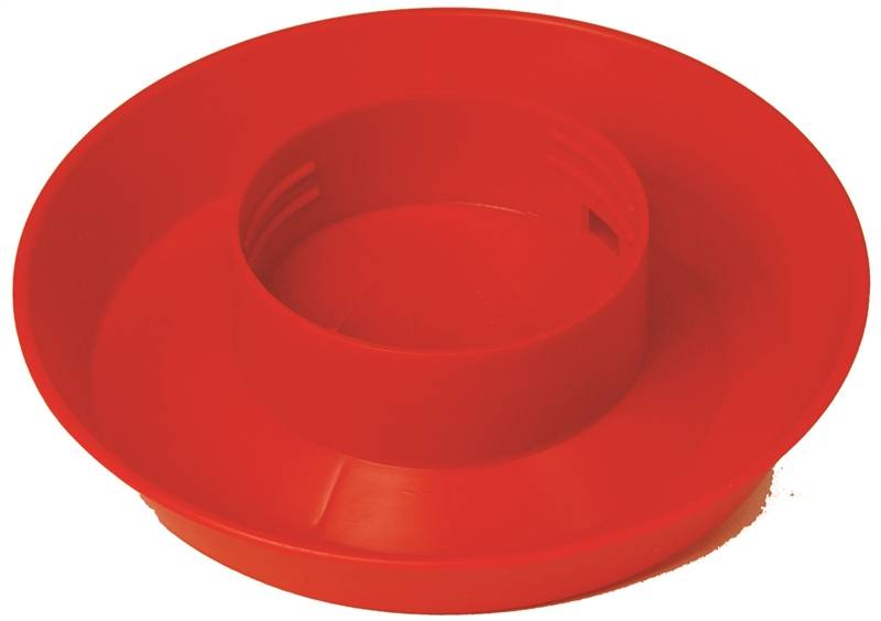 Little Giant 740 Poultry Waterer Base, 1 qt Capacity, 1-1/2 in H, 6 in Dia, Polystyrene, Red