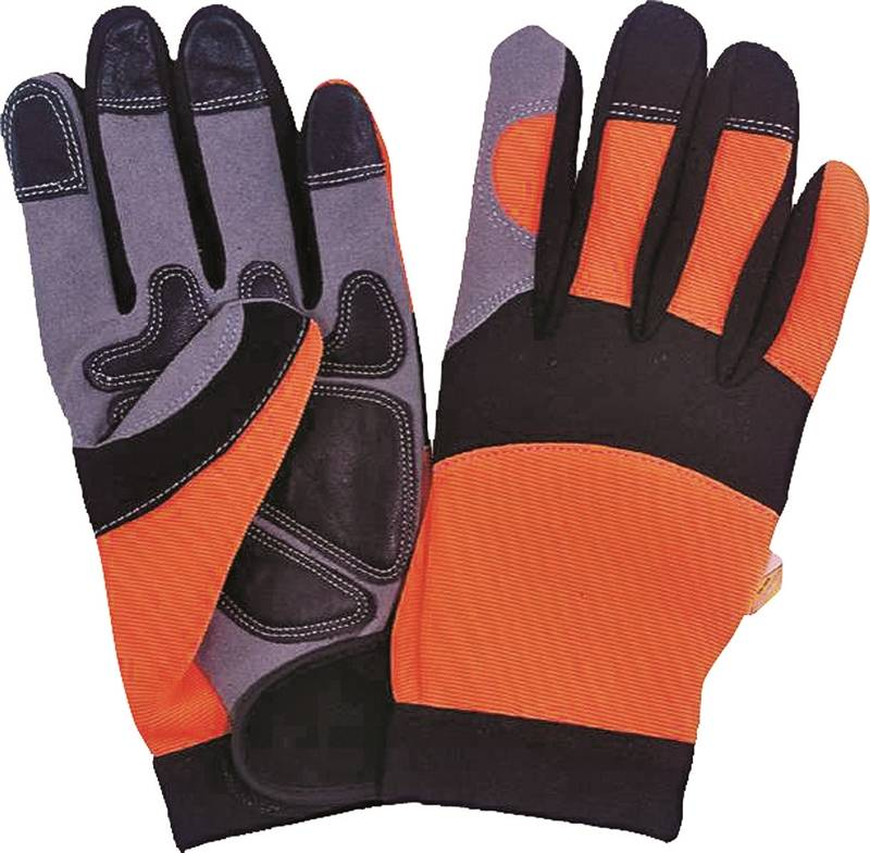 Diamondback Work Gloves, X-Large, Microfiber, Spandex, Safety Orange