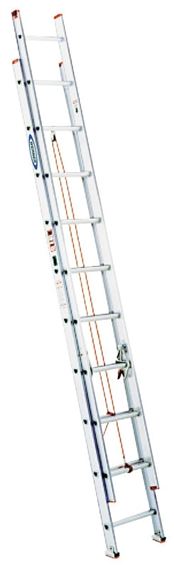 WERNER D1124-2 Extension Ladder, 200 lb Weight Capacity, 21 ft L Extension, Aluminum