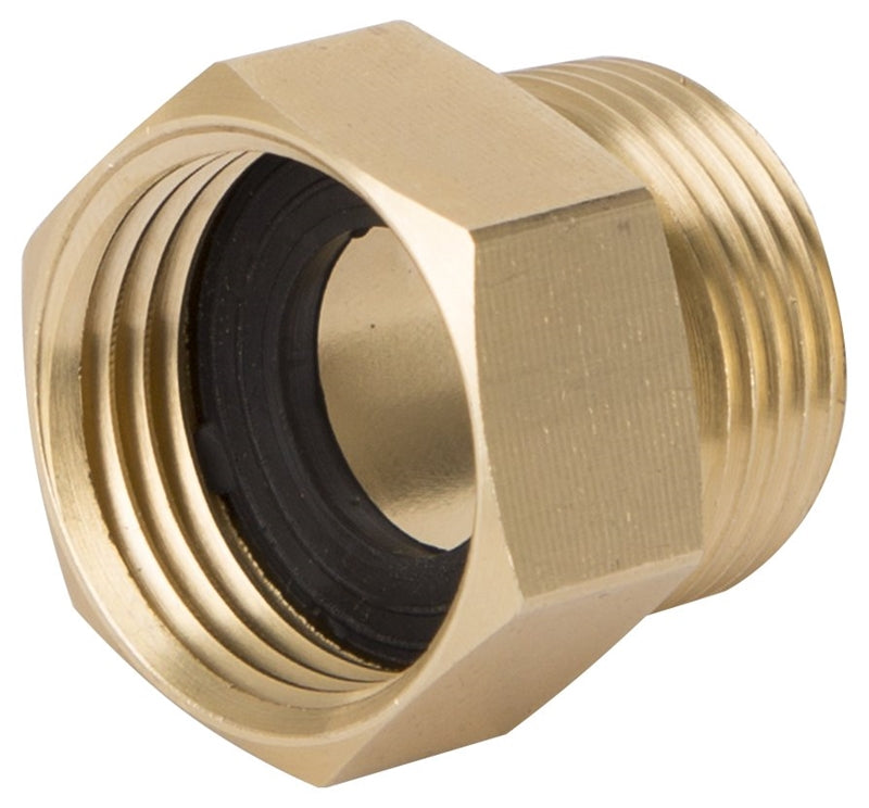 Landscapers Select Double Connector, 3/4 In, Mnpt X Female Nh, Brass, For Use With Any Standard Lawn & Garden Hose