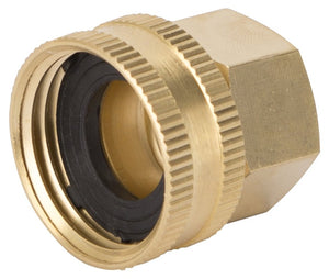 Landscapers Select Double Swivel Connector, 1/2 X 3/4 In, Fnpt X Female Nh, Brass