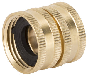 Landscapers Select Double Swivel Connector, 3/4 In, Fnpt X Female Nh, Brass, For Use With Any Standard Lawn & Garden Hose