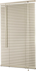 Simple Spaces Horizontal Light Filtering Mini Vinyl Blind, 64 In L X 27 In W, Alabaster