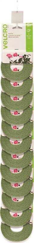 VELCRO Brand 90594ACS Adjustable Plant Tie, 30 ft L, 1/2 in W, Green