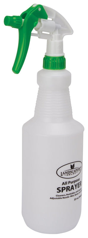 Landscapers Select Spray Bottle, 1 L, Pe, Adjustable Nozzle