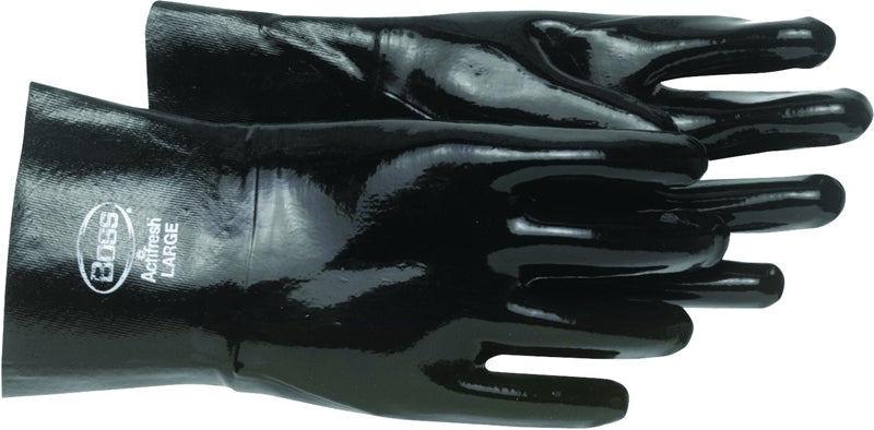 Boss 951L Protective Gloves, L, Cotton Lining, Neoprene, Black