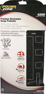 PowerZone Heavy Duty Surge Protector, Black