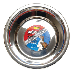 HiLo 56620 Pet Feeding Dish, M, 2 qt Capacity, Stainless Steel