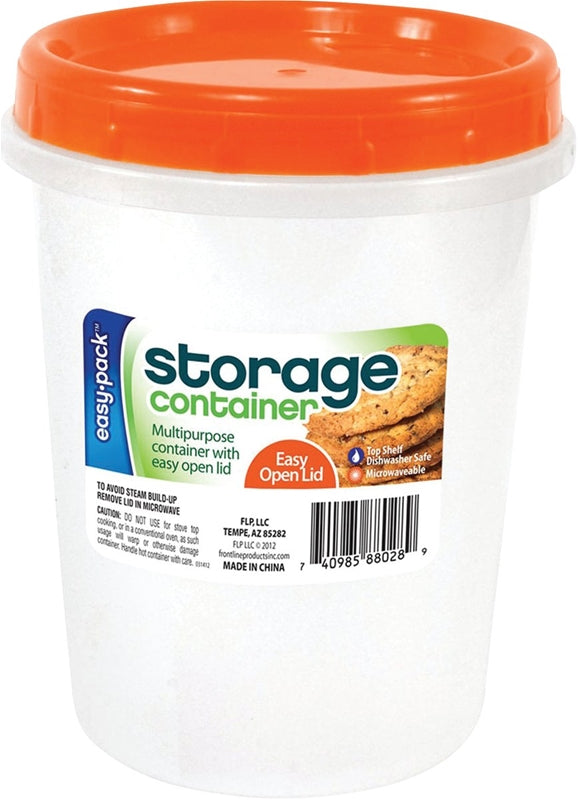 Easy Pack 8028 Storage Container, 1.6 L Capacity, Round, Plastic