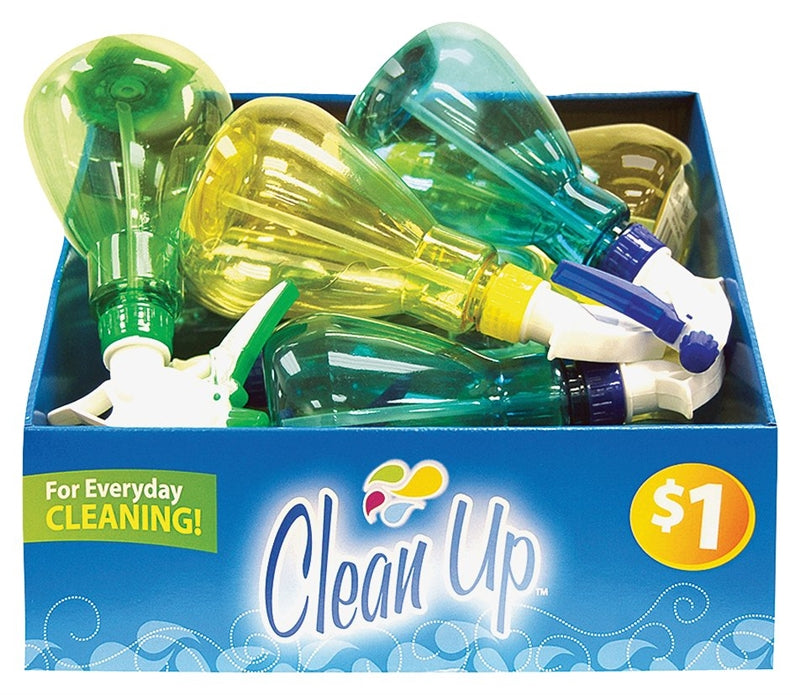 FLP Clean-Up 8870 Spray Bottle, 6 oz Capacity, Plastic, Assorted