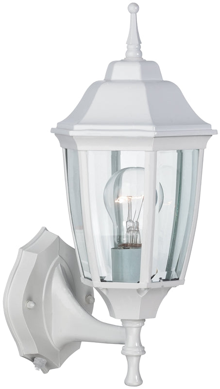 Boston Harbor Dimmable Outdoor Lantern, (1) 60/13 W Medium A19/Cfl Lamp, White