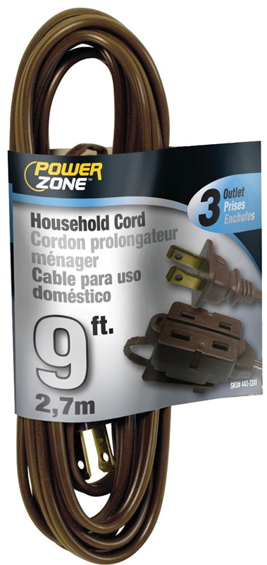 PowerZone Spt-2 Extension Cord, 16/2, 9 Ft