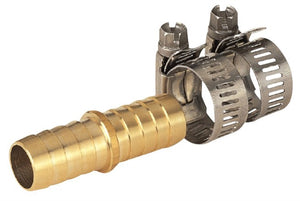 Landscapers Select Lawn & Garden Hose Menders, Solid Brass, With Clamps, 5/8-5/8 Inch