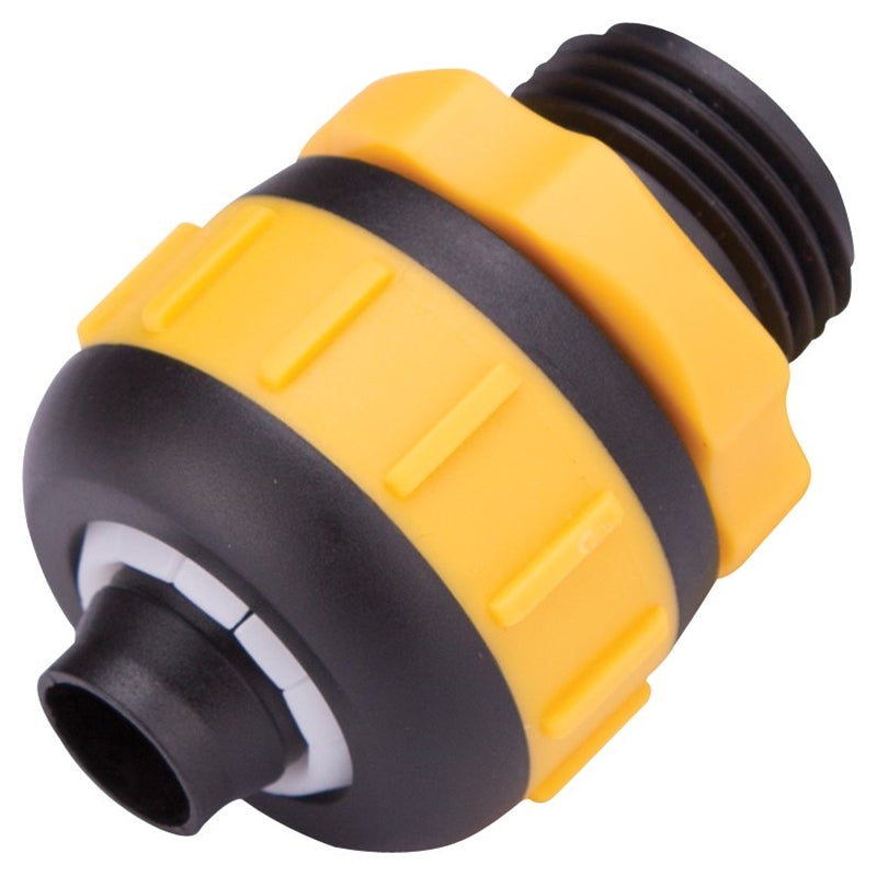 Landscapers Select Hose Coupling, 5/8 X 3/4 In, Male, Rubber/Vinyl