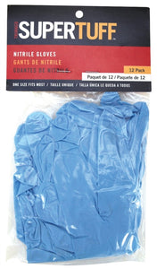 Trimaco 01815 Powder-Free Disposable Gloves, L/XL, 2.8 in L, Blue, Nitrile