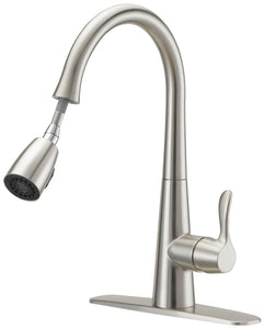 Boston Harbor Kitchen Faucet, 1.75 Gpm At 60 Psi, 1 Durable Metal Lever Handle, 8-7/8 In H Spout, 42618 In
