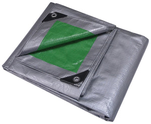 ProSource Heavy Duty Reversible Tarp With Aluminum Grommets, 20 Ft L X 10 Ft W, 12 X 12 In Mesh, Polyethylene