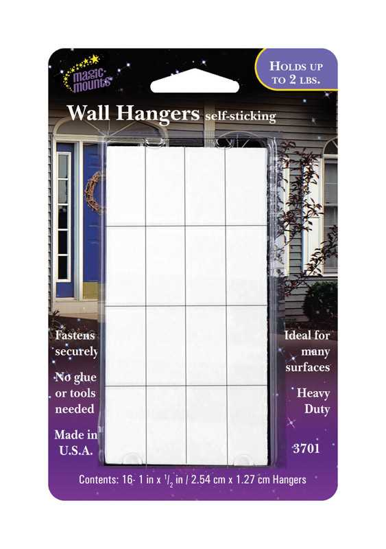 Magic Mounts Self Stick Heavy Duty Foam 2 lb. 16 pk Adhesive Hangers