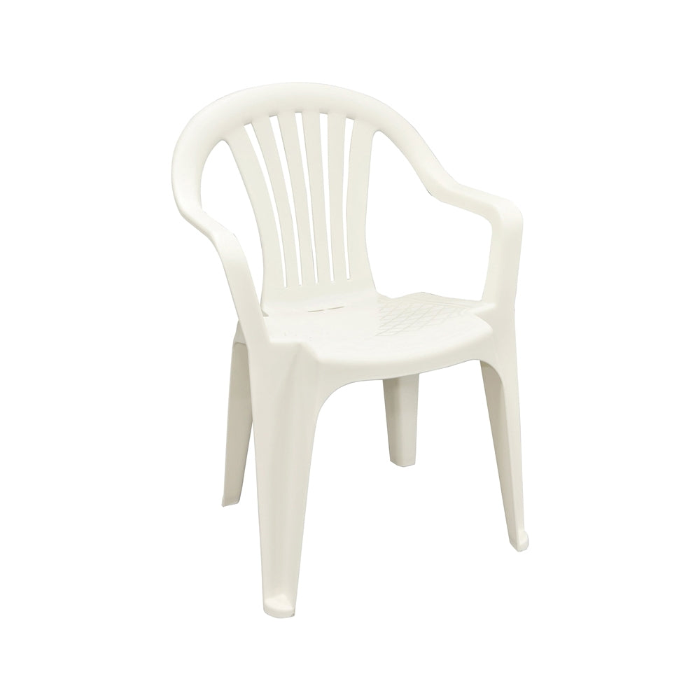 White Low-Back Chair