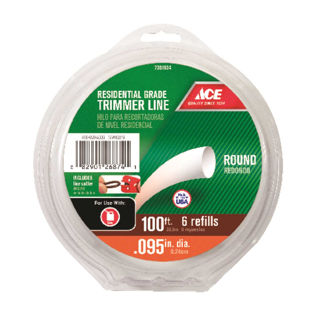 Ace Residential Grade 0.095 in. Dia. x 100 ft. L Trimmer Line
