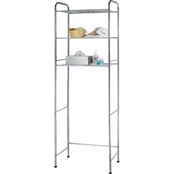 BATH SHELVE WIRE CHROME 3-TIER